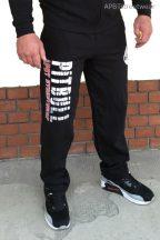 APBT Streetwear PIT BULL FANATICS szabadidő nadrág fekete