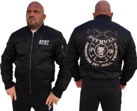 APBT Streetwear PIT BULL GANG 3 Bomber dzseki fekete